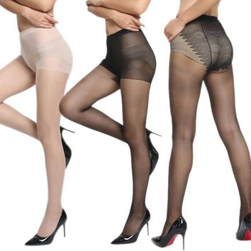 Spring Autumn Sexy Women Ice Crystals Silk Tights Seamless Stockings Super Elastic Thin Pantyhose Sexy Nylon Stockings H -MX8