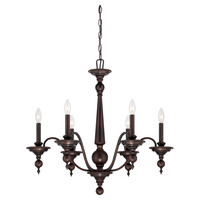 Ella Chandelier in English Bronze