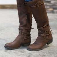 PEAPF Marcelina Lace-Up Boots - Brown