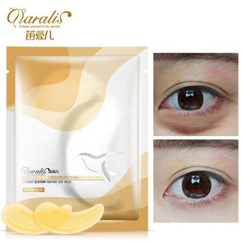 Daralis 2pack Golden Bird's Nest Collagen Eye Mask Anti-Aging Face Care Ageless Sleep Mask Eliminates Eye Bags Dark Circles