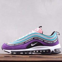 DCCK2 N261 Nike Air Max 97 Have A Nike Day Ratro Running Shoes Purple Pink Blue