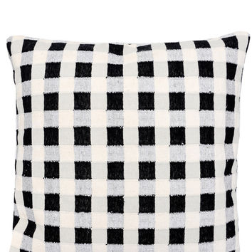 Metallic Gingham Pillow, 24""