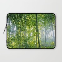 MM - Sunny forest Laptop Sleeve by Pirmin Nohr