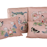 Chinoiserie Accent Pillows, S/4