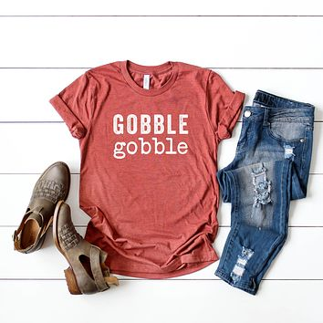 Gobble Gobble Thanksgiving Graphic Tee