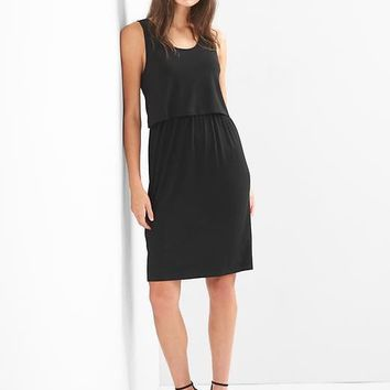 Maternity layered nursing dress|gap