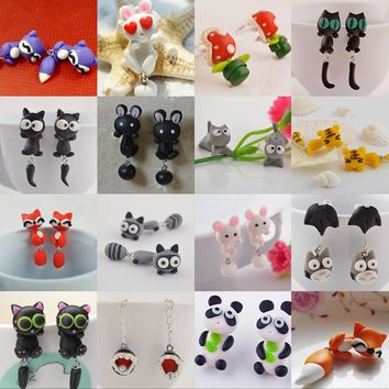 Cute Colorful Punk Animal Stud Earrings