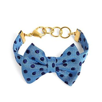 Kiel James Patrick Blue and Navy Polka Dot Bow Tie Bracelet - Brooks Brothers