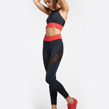 Michi Inversion Legging - Deep Sea Navy/Black/Fire Red