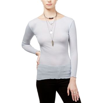 Intimately Free People Womens Eyes Wide Open Ribbed Long Sleeve Pullover Top