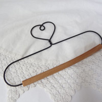 heart wall hanger hook rod vintage metal wire shabby boho decor