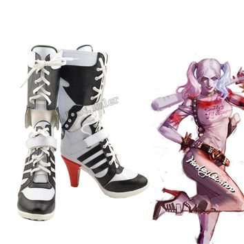 New Arraval Batman DC Comic Suicide Squad Harley Quinn Cosplay Shoes Original
