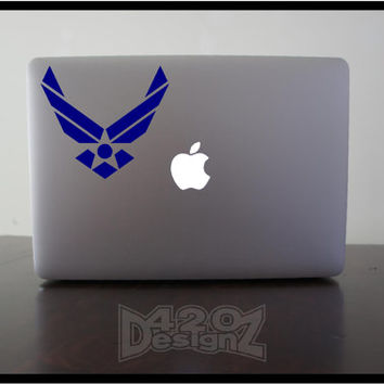Air Force - Macbook Air, Macbook Pro, Macbook decals, sticker ,Vinyl Mac decals ,Apple Mac Decal, Laptop, ipad