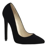 Women's Devious Sexy-20 Black Velvet | Overstock.com Shopping - The Best Deals on Heels