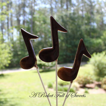 10 MUSIC NOTE Barley Sugar Hard Candy Lollipops Suckers Birthday Party Favors Gifts