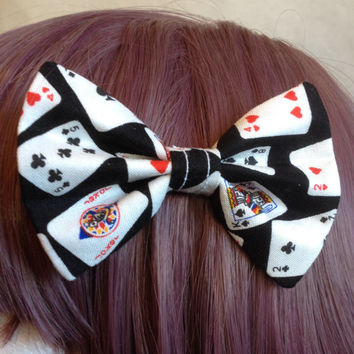 Alice in Wonderland Lolita Kawaii Harajuku Alternative Tumblr Japanese Fashion Jfashion Poker Playing Cards Hair Bow Tie