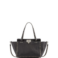 Noir Rockstud Mini Tote Bag, Black - Valentino
