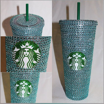 Teal Crystal Starbucks Cold Cup