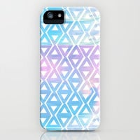 Cotton Candy Sky Triangles iPhone & iPod Case by An Luong