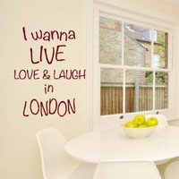 Wall Vinyl Decal Sticker Art Design London Inscription Hand Wall Lettering Room Nice Picture Decor Hall Wall Chu957