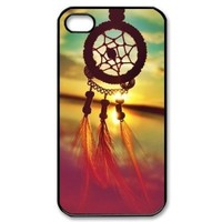 Generic Colorful Cloud Feather Dream Catcher Pattern Hard Case Cover for iPhone4 4G 4S +Screen Protector