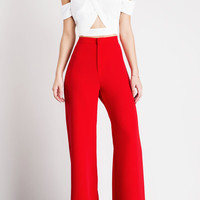 Minus The Business Suit High Waist Pants (Red)