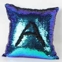 Fashion Mermaid Cushion Cover Double Color Glitter Sequins Cafe Cushion Sofa Car Magical Color Pillowcase Decorative covers