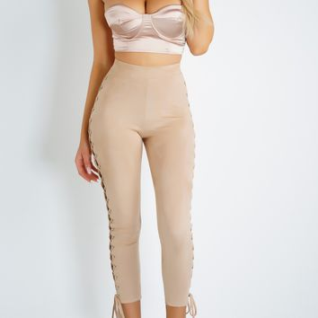 Matrimony Leggings - Nude