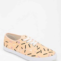 Printed Plimsoll Sneaker- Orange