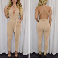 Rompers and Jumpsuit Womens Sexy Sleeveless Playsuit