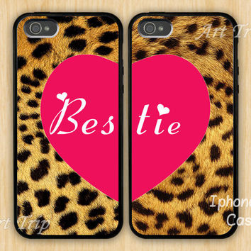Best Friends iPhone 5 Case bestie iphone 5 case Leopard by ArtTrip