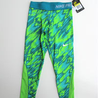 Nike Pro Cool Girls Graphic Print Workout Yoga Leggings S NWT
