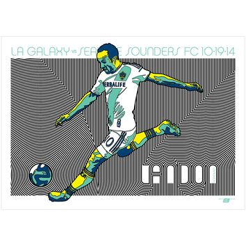 LA Galaxy vs Seattle Sounders FC Poster