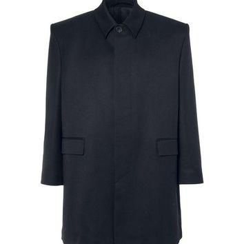 ONETOW balenciaga oversized wool twill coat 2