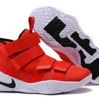 Nike LeBron Soldier 11 EP Red Basketball Shoes US7-12