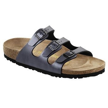 Birkenstock Classic Florida Birko-flor Regular Fit Ice Pearl Onyx - Beauty Ticks
