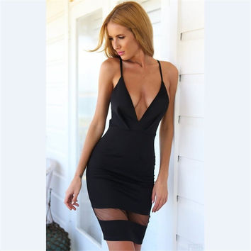 V-neck Sexy Lace Women's Fashion One Piece Dress [10389899597]