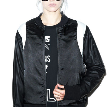 EPTM. Sporty Strike Bomber Jacket Black/White