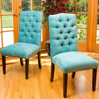 Christopher Knight Home Crown Top Fabric Dining Chair (Set of 2) | Overstock.com Shopping - The Best Deals on Dining Chairs