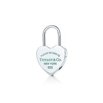 Tiffany & Co. -  Return to Tiffany™ heart lock key ring in sterling silver with enamel finish.