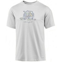 Life is Good Men's Football Tailgate Crusher Tee
