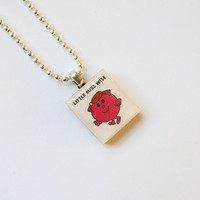 Little Miss Wise Scrabble Pendant on 18 inch silver ball chain