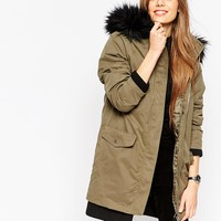 ASOS Parka with Detachable Padded Liner