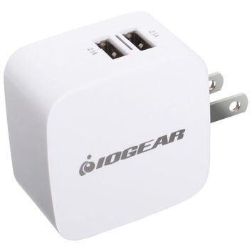 Iogear Gearpower Dual Usb 4.2a Wall Charger