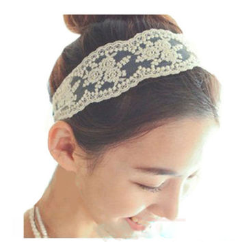 Newly Design Women Fashion Headbands Jewelry Lace Embroidered Flowers Hair Bands Accessories Drop Shipping