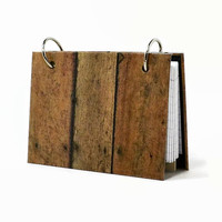 Index card binder, rustic wood fence, recipe holder, writing journal, index card holder with a set of index card dividers