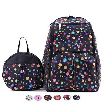High Quality Baby Diaper Bag Backpack Mommy Maternity Nappy Changing Bags For Mommy and Anti-lost Baby Bag, 2Pcs/set, 4 Colors