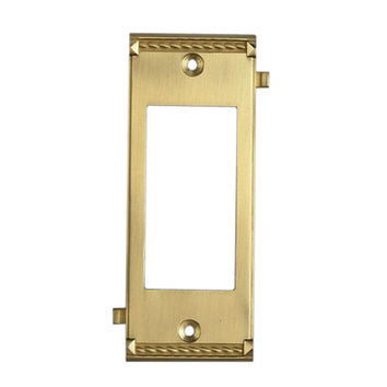 Elk Lighting 2505BR Brass Middle Switch Plate