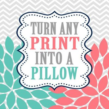 THROW PILLOW, Pillowcase, Matching Bedding, Choose Colors, Baby Nursery, Any Print from TRM Design, Print Pattern, Home Decor
