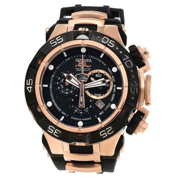 Invicta 12888 Men's Subaqua Noma V Black Dial Rose Gold Steel Chronograph Dive Watch